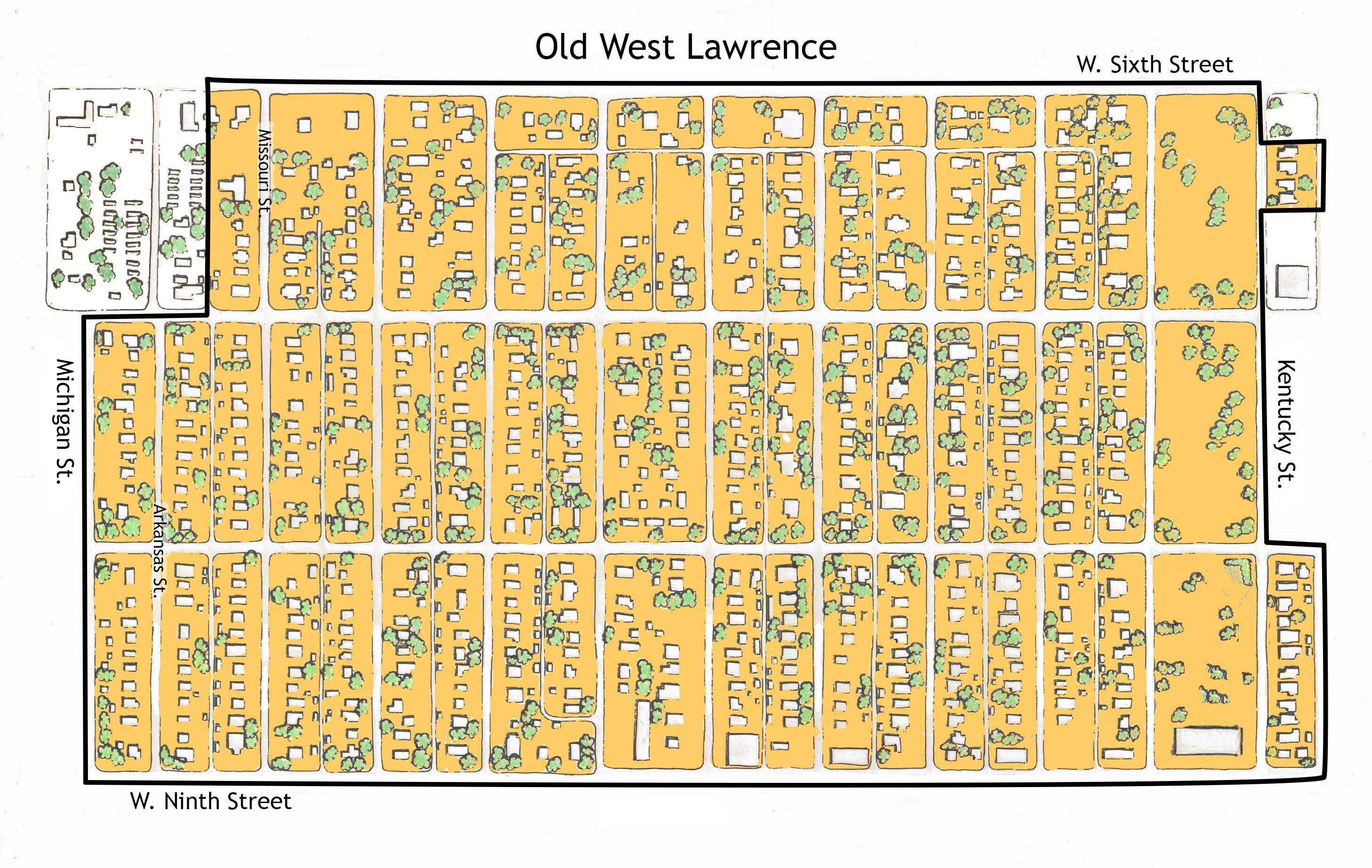 Maps Old West Lawrence Association